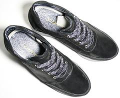 Блестящие кроссовки сникерсы женские черне. Кожаные кроссовки сникерсы на танкетке. Демисезонные кроссовки туфли в спортивном стиле Avangard - Black Laser Skin