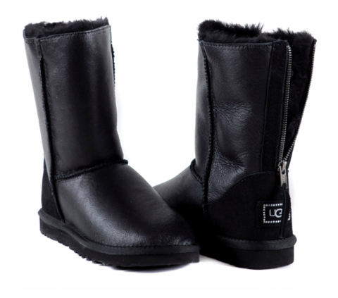 UGG Zip Metallic Black