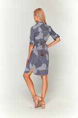 Платье-рубашка с морским принтом