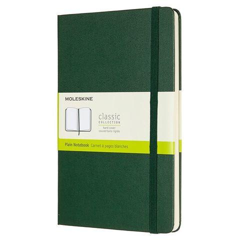 Блокнот Moleskine CLASSIC QP062K15 Large 130х210мм 240стр. нелинованный твердая обложка зеленый
