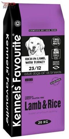 Сухой корм для собак Kennels Favourite при аллергии, ягненок, с рисом 20 кг