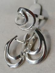 Журуа (кольцо + серьги из серебра)