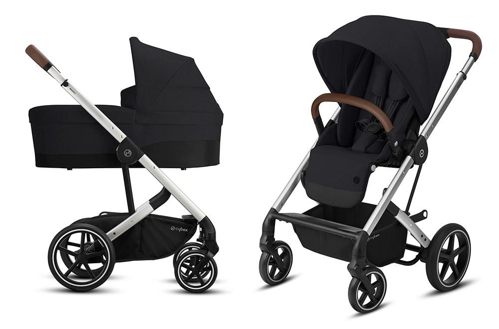 Cybex Balios S 2 в 1, для новорожденных Детская коляска Cybex Balios S Lux SLV 2 в 1 Deep Black BaliosSLux_CotS_OnFrame_SLV-2in1-deep-black.jpg