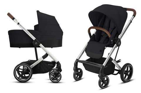 Детская коляска Cybex Balios S Lux SLV 2 в 1 Deep Black