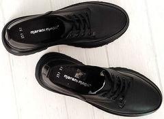 Демисезонные туфли закрытые женские Marani magli M-237-06-18 Black.