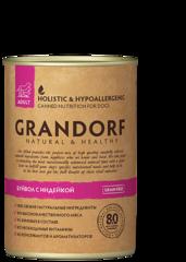 Grandorf консервы для взрослых собак, Буйвол с Индейкой.