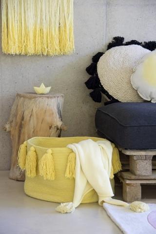 Корзина Lorena Canals Tassels Vintage Yellow (30 x Ø45 см)