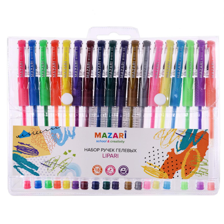 Mazari Lipari набор гелевых ручек 0.8 мм - 18 цветов
