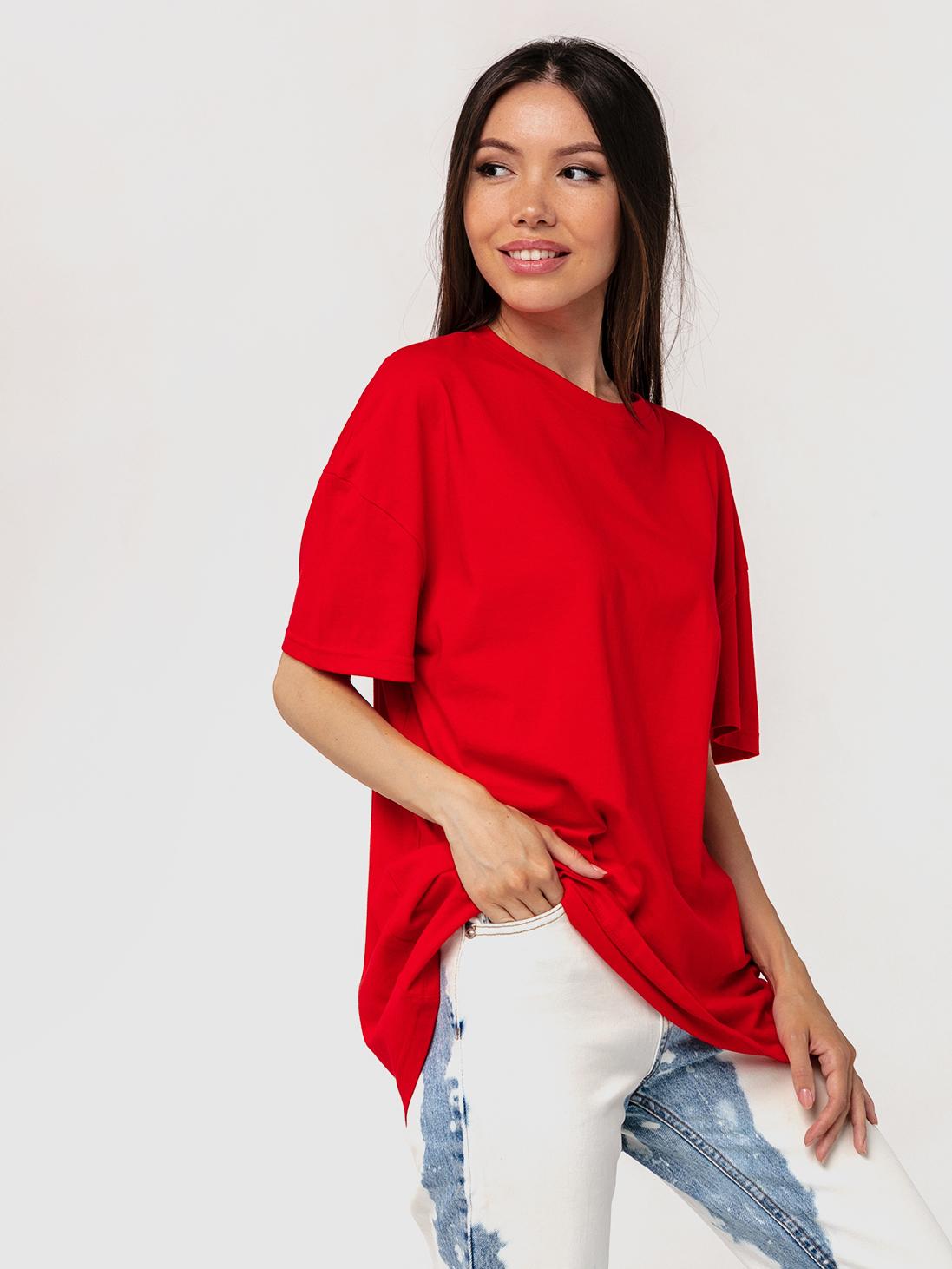 Футболка красная YOS от украинского бренда Your Own Style