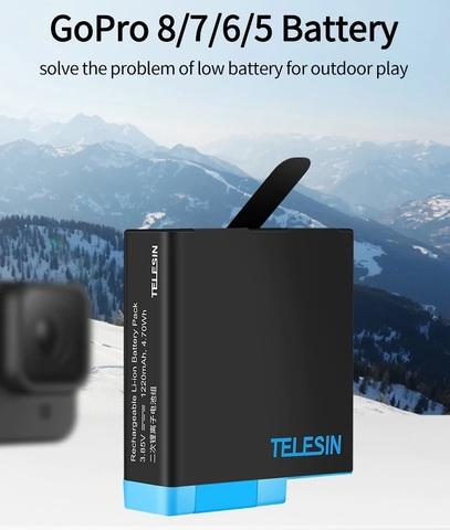 Зарядное устройство для аккумуляторов TELESIN для 3х АКБ + 2 АКБ для GoPro Hero 5/6/7/8 (GP-BNC-801)