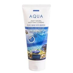 Пенка увлажняющая Jigott Natural Aqua Foam Cleansing с аквамарином 180 мл