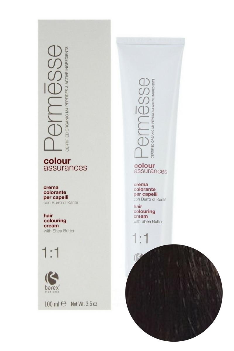Крем-краска для волос 3.7 Темный каштан фиолетовый Permesse, Barex