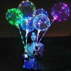 Светящийся воздушный шар на палочке и с led-гирляндой