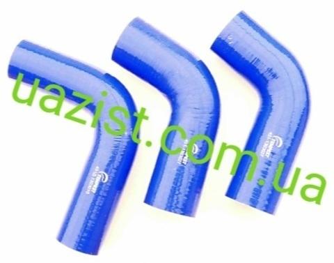 Патрубки радиатора Уаз 452, 469 (УМЗ 417, 90 л.с) силикон (к-т 3 шт) Tempest EU