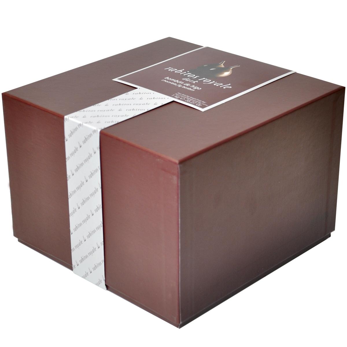 Конфеты Инжир в тёмном шоколаде с трюфельным кремом и бренди Rabitos 1 кг 58 конфет