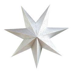 Звезда семиконечная бумажная 60 см точки, Серебро, 1 шт.
