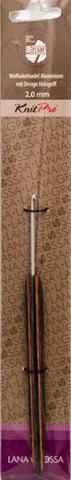 Lana Grossa Крючок с деревянной разноцветной ручкой (алюминий), № 6