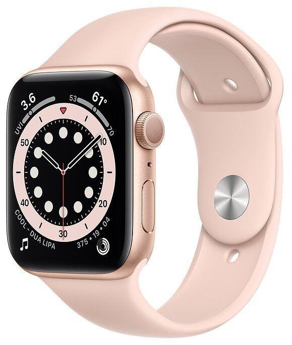 Apple Watch Series 6 Часы Apple Watch Series 6 GPS 44mm Aluminum Case with Sport Band (Золотой/Розовый) umnye-chasy-apple-watch-series-6-gps-44mm-red.jpg