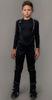 Детский утеплённый лыжный костюм Nordski Jr. Premium Blue-Black с высокой спинкой