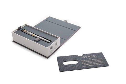 Parker Sonnet Core - Stainless Steel GT, ручка-роллер, M, BL