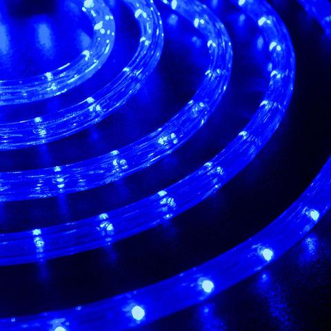 шнур синий 10 метров готовый отрезок кусок дюралайта с коннектором led