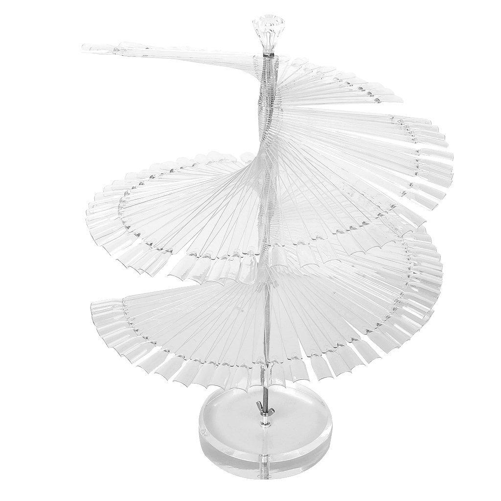 Типсы спираль КВАДРАТ на подставке прозрачные 100шт
