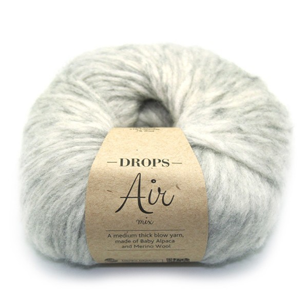Пряжа Drops Air 03 светло-серый