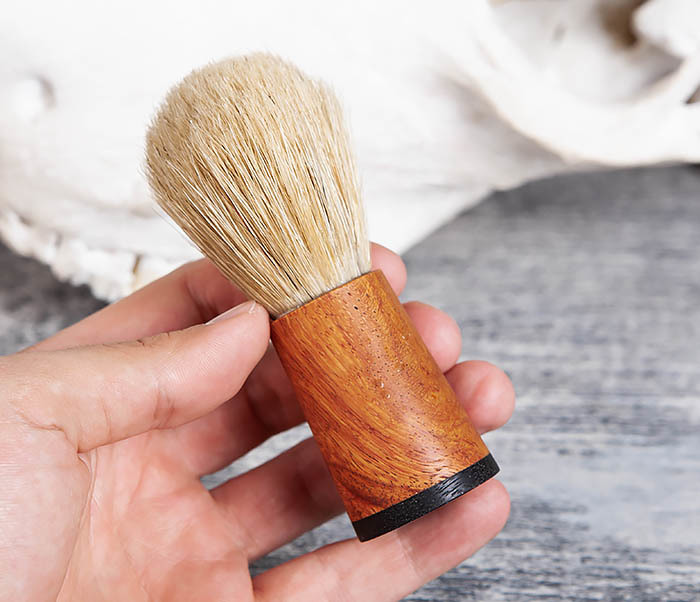 RAZ384 Помазок с рукояткой ручной работы из дерева фото 04