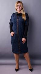 Таша. Стильна сукня на кожен день. Синій.