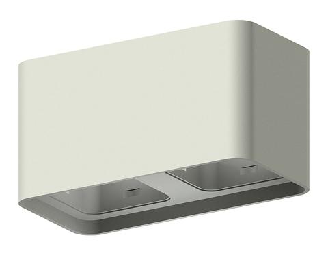 Корпус светильника накладной для насадок 70*70mm C7852 SGR серый песок 190*95*H100mm MR16 GU5.3