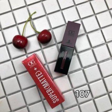 OG-C1607 Блеск для губ матовый стойкий SUPER MATTE тон 107