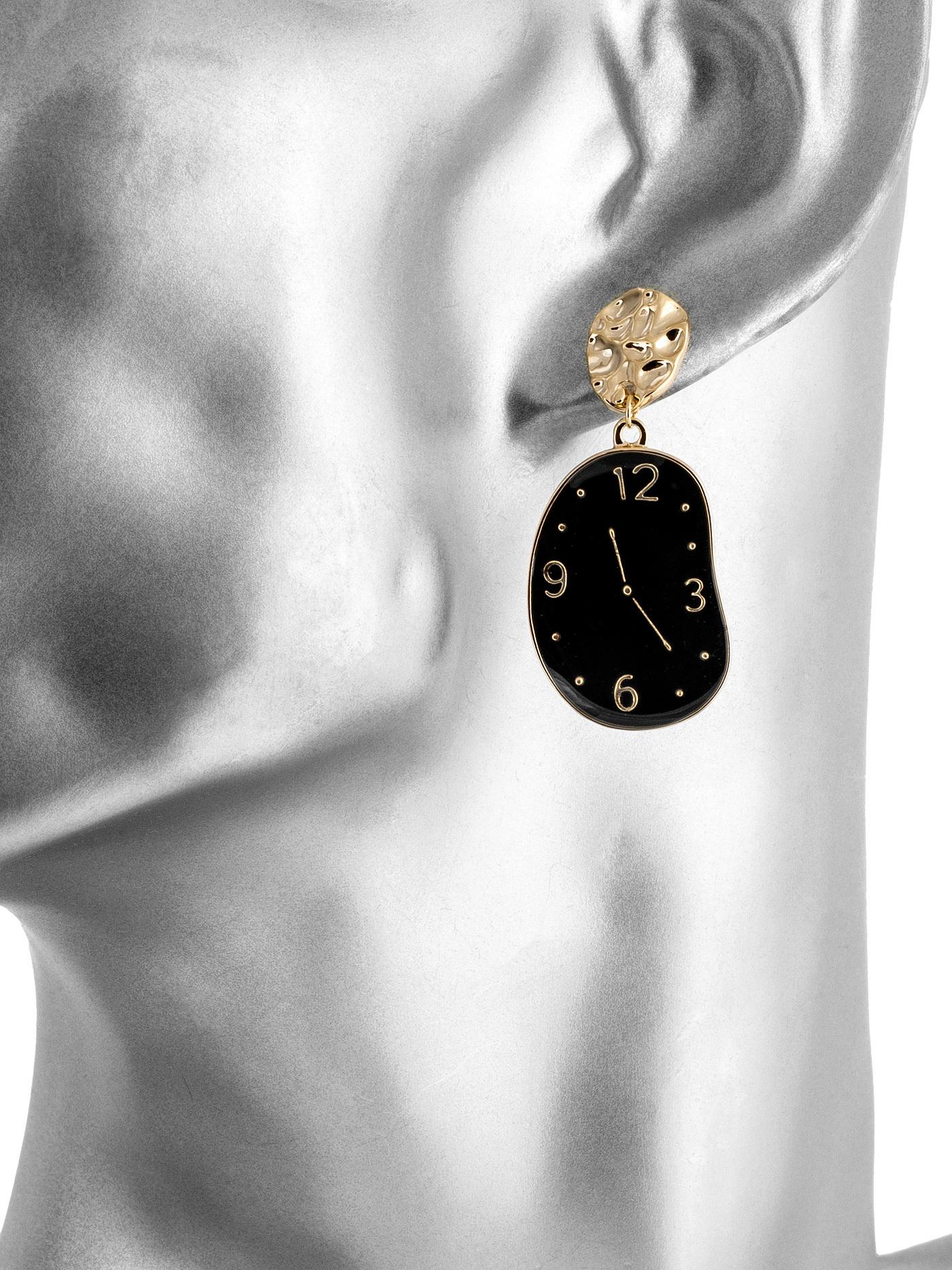 Серьги Часы Сальвадора Дали, стильные подарки