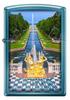 Зажигалка Zippo Петергофский фонтан, латунь/сталь с покрытием Sapphire™, синяя, 36x12x56 мм