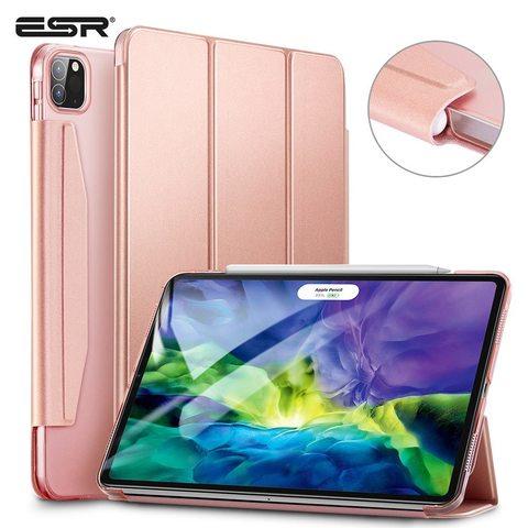 Ударопрочный магнитный чехол ESR Rebound Pencil Case для iPad Pro 11 2020 (Розовый)