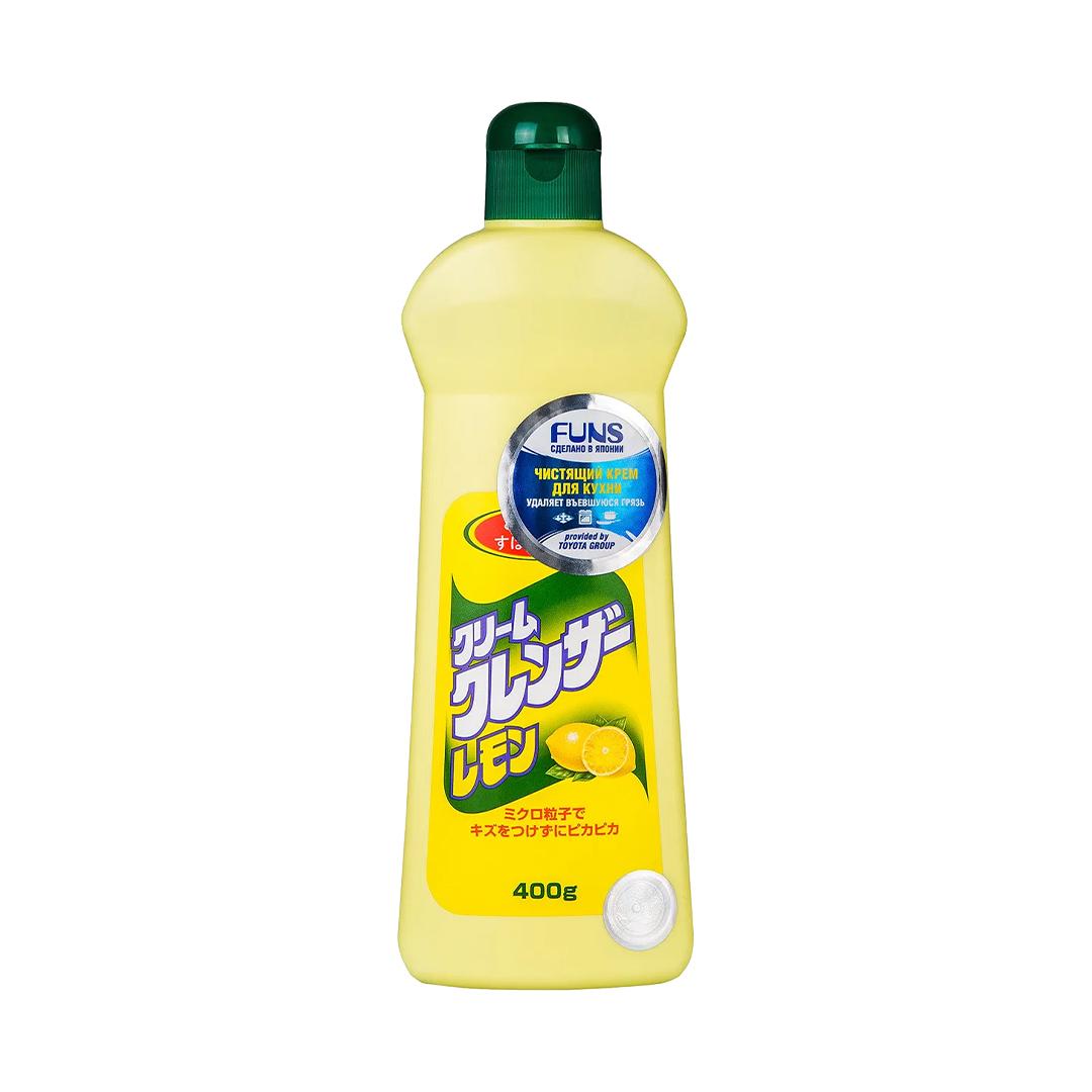 FUNS Крем чистящий для кухни и посуды с ароматом лимона 400 г.