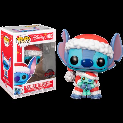 Funko Pop!  (Exc) Disney. Lilo&Stitch || Санта Стич
