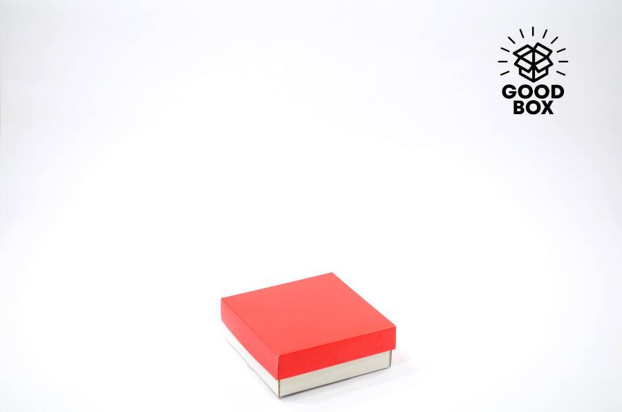 Коробка 150*150*50 Красная + белое дно