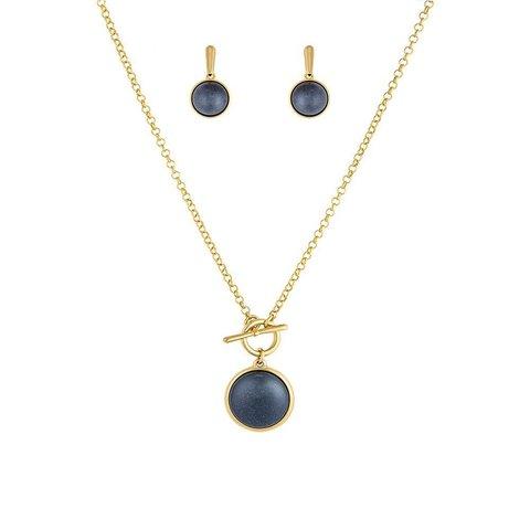 Комплект Pearl Blue Aventurine S1560.23 BL/G