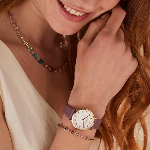 Часы Purple-White 7611/71-0814 цвет мультиколор, фиолетовый