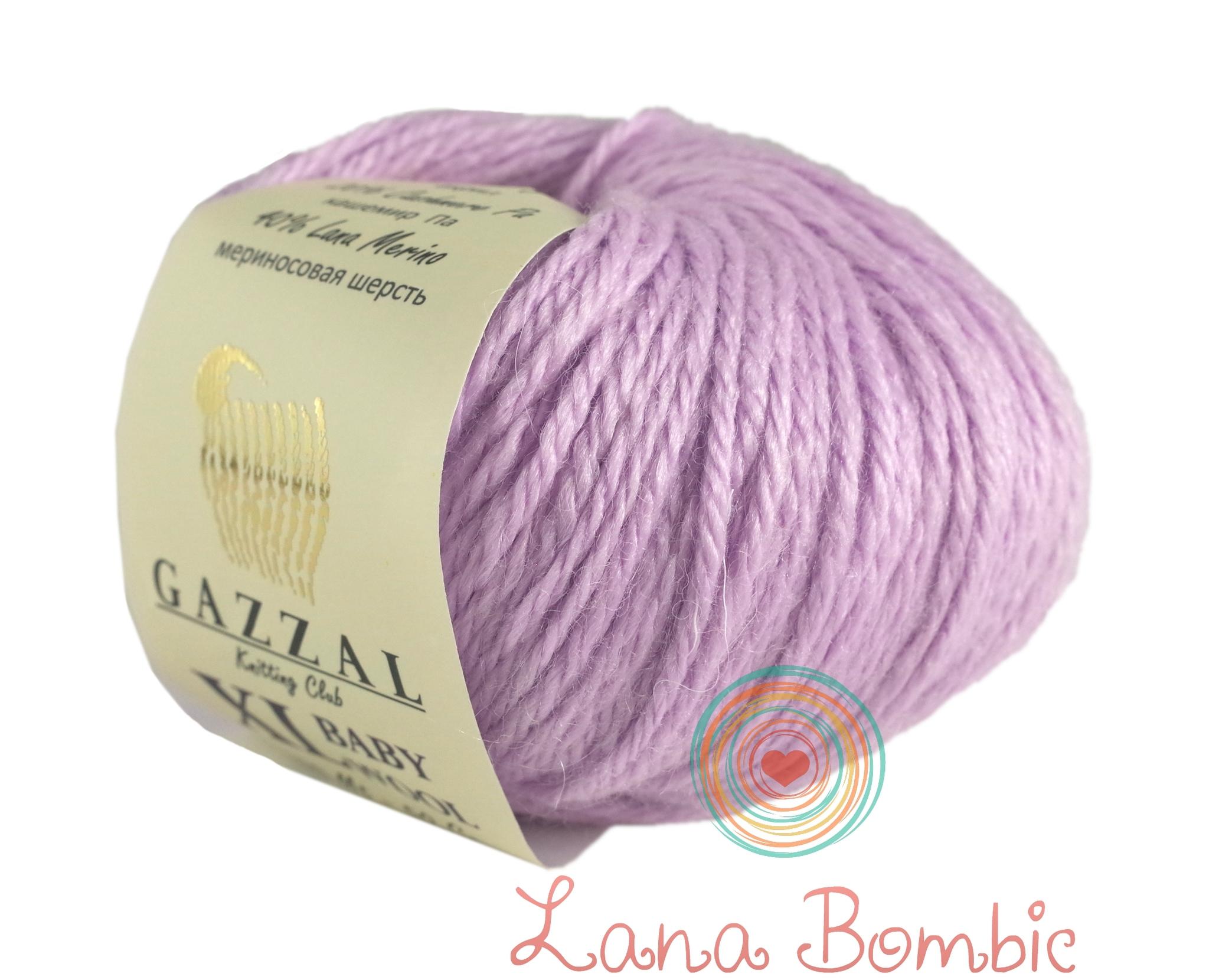 Пряжа Gazzal Baby Wool XL 823 сиреневый