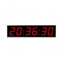 Часы электронные 410-EURO-HMS-R,цвет свечения красный  0,5KД, 650x160x75мм