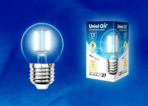 Uniel Лампа LED-G45-7,5W/NW/E27/CL Air (белый свет)