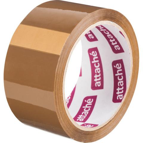Скотч клейкая лента упаковочная Attache коричневая 48 мм x 60 м толщина 40 мкм
