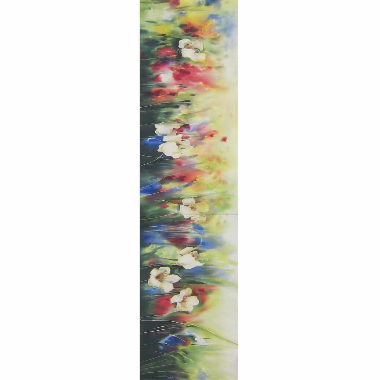 Шелковый шарф батик Веселое лето