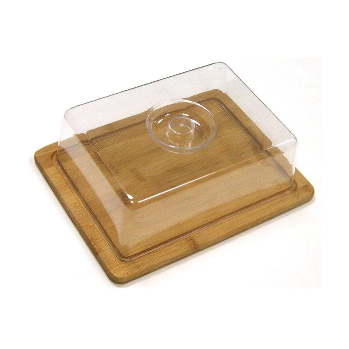 Доска разделочная с пластиковой крышкой 25 х 20 х 8 см, артикул 9032, производитель - Hans&Gretchen