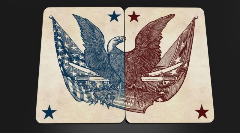 Карты Bicycle Civil War с флагом