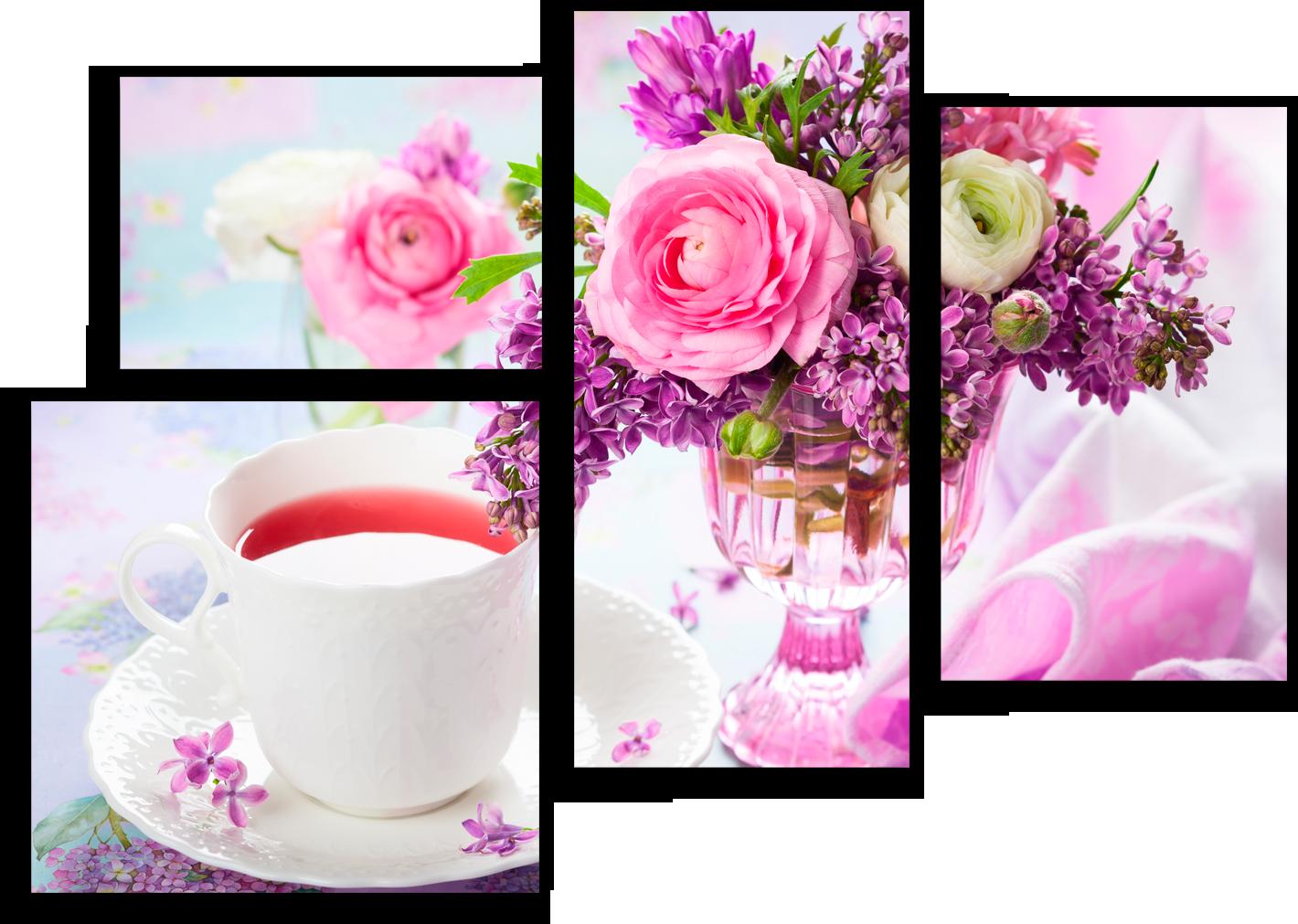 "Еда Модульная картина ""Цветочный аромат чая"" М7.png"