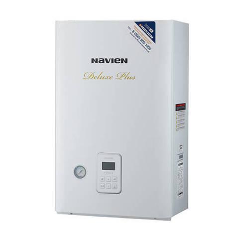 Котел газовый настенный Navien Deluxe Plus Coaxial - 13 кВт (двухконтурный, закрытая камера)