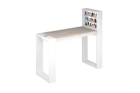 Одноместный маникюрный стол Matrix с подставкой для лаков