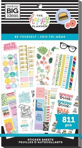 Блокнот со стикерами для ежедневника Create 365 Happy Planner Value Pack Stickers - Be Yourself - 811 шт